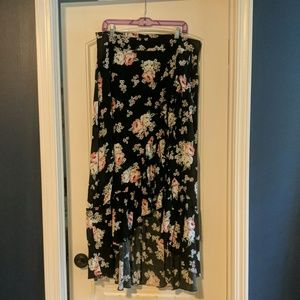 Torrid Floral Maxi Skirt with Ruffle